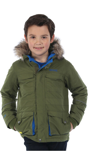Regatta Capton Parka Boys Cypress Green
